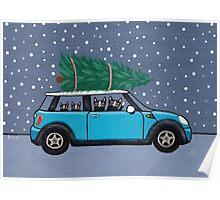 Mini Christmas Cats Poster