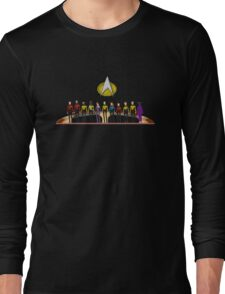 Star Trek: The Next Generation - Pixelart Crew Long Sleeve T-Shirt