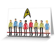 Star Trek: The Original Series - Pixelart crew Greeting Card