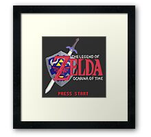 The Legend of Zelda: Ocarina of Time Framed Print