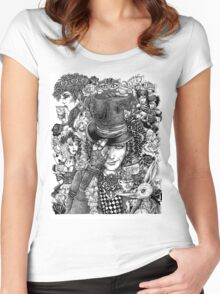 Hatter's Tea Party Women's Fitted Scoop T-Shirt