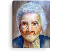 """follow up to """"Grandmother"""" (97 yrs old) Canvas Print"""