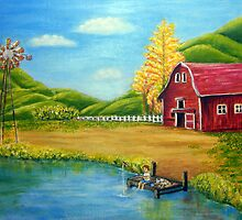 The Big Red Barn by saleire