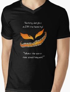 Nothing Delights a Dungeon Master like: Mens V-Neck T-Shirt