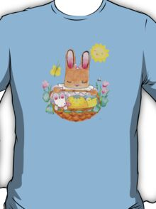 little girl bunny and basket T-Shirt