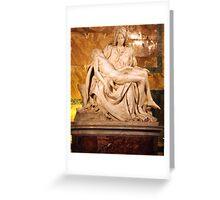 Michaelangelo's Pieta Greeting Card