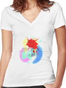 heART. - colorful Women's Fitted V-Neck T-Shirt