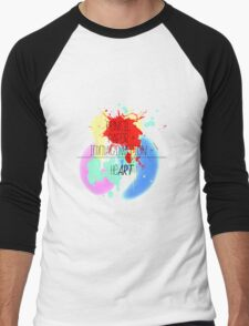 heART. - colorful Men's Baseball ¾ T-Shirt