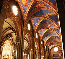 Nave of the Church of Santa Maria sopra Minerva by Kent Nickell