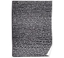 """""""Dictionary 29"""" (hoopla-hypocaust) Poster"""