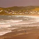 A Beautiful Summer's Day at Woolacombe by Mike  Waldron
