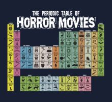Periodic Table of Horror Movies Kids Tee