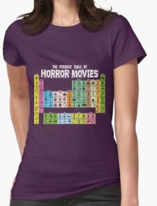 Periodic Table of Horror Movies Womens Fitted T-Shirt