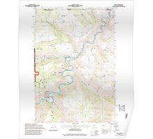 USGS Topo Map Oregon Troy 281881 1995 24000 Poster