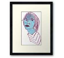 The Girl with the Stubborn Jaw Framed Print