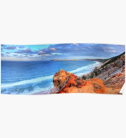 Rainbow Beach - Double Island Point Poster