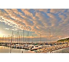 Boat Lot, Golden Gardens, Seattle, WA Photographic Print