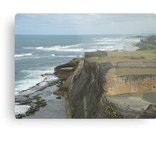 Caribbean Cliff - San Juan Puerto Rico Metal Print