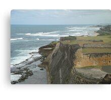 Caribbean Cliff - San Juan Puerto Rico Canvas Print