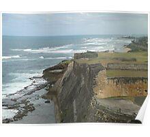 Caribbean Cliff - San Juan Puerto Rico Poster