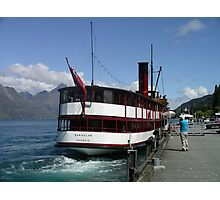 TSS Earnslaw, Queenstown Bay New Zealand Photographic Print