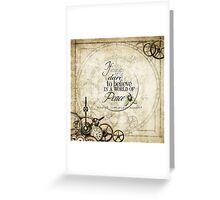Steampunk Peace Greeting Card
