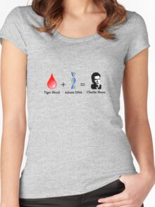 Tiger Blood + Adonis DNA = Charlie Sheen Women's Fitted Scoop T-Shirt