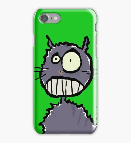 the cat is easily scared iPhone Case/Skin