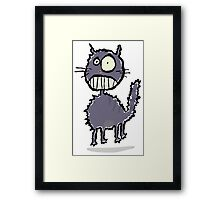 the cat is easily scared Framed Print