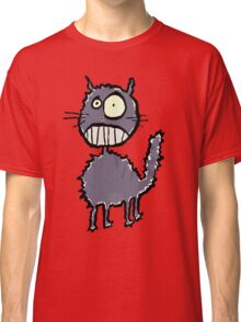 the cat is easily scared Classic T-Shirt