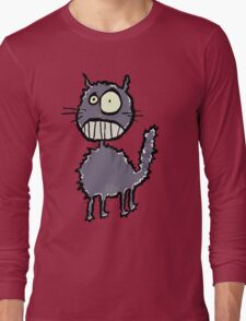 the cat is easily scared Long Sleeve T-Shirt