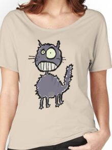 the cat is easily scared Women's Relaxed Fit T-Shirt