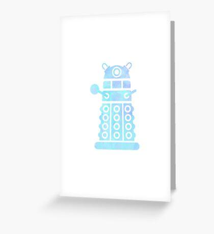 dalek blue pastel version Greeting Card