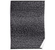 """Dictionary 60"" (somnolent-squash) Poster"