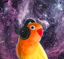 Space Bird Listening to Music by sundressed