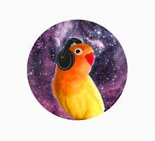 Space Bird Listening to Music Unisex T-Shirt