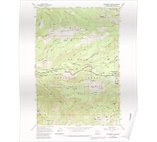 USGS Topo Map Oregon Government Camp 280058 1962 24000 Poster