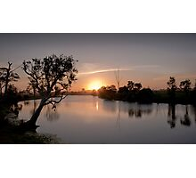 Sunset on the Beautiful Hedlow Creek Photographic Print