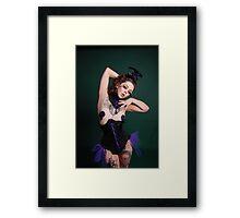 Apnea in Jupiter Moon 3 corset  Framed Print