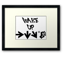 STREET FIGHTER - WAKE UP SHORYUKEN - BLACK Framed Print