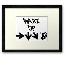 STREET FIGHTER - WAKE UP SHORYUKEN - BLACK Framed Print