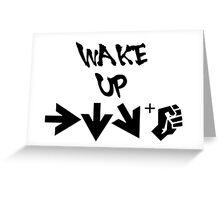 STREET FIGHTER - WAKE UP SHORYUKEN - BLACK Greeting Card