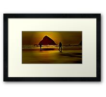 GOLD BEACH.....Having Fun~ Framed Print