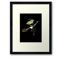 Green Witch Framed Print
