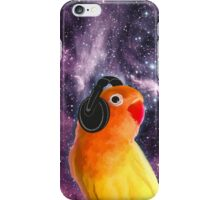 Space Bird Listening to Music iPhone Case/Skin