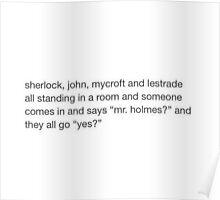 """Mr Holmes?"" Poster"