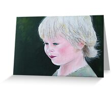 Golden-haired  Greeting Card