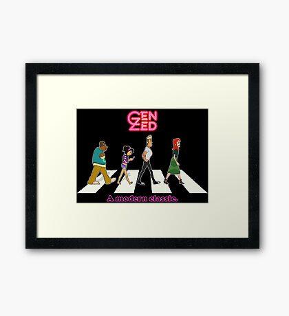 Zeddy Road: A modern classic Framed Print