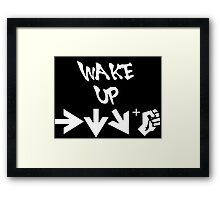 STREET FIGHTER - WAKE UP SHORYUKEN - WHITE Framed Print