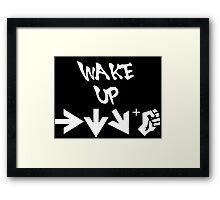 STREET FIGHTER - WAKE UP SHORYUKEN - WHITE Framed Print